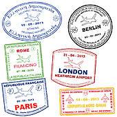 Stamp clipart passport #3