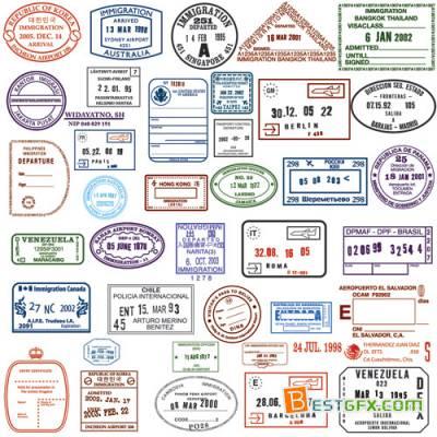 Stamp clipart passport #6