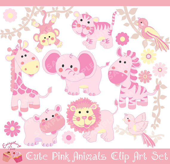 Safari clipart pink Animals 1EverythingNice Cute Pink Clipart