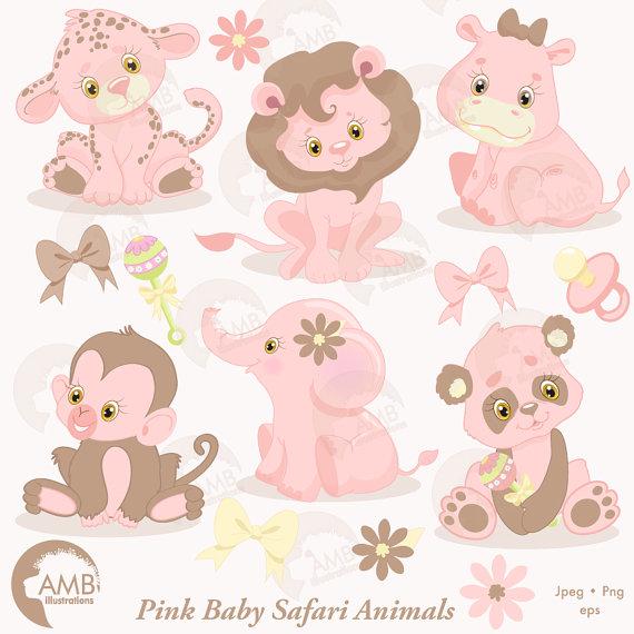 Pink clipart safari Commercial Animals Animal Studio Animals