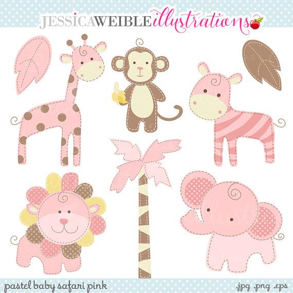 Safari clipart pink Safari Commercial Baby Safari Cute