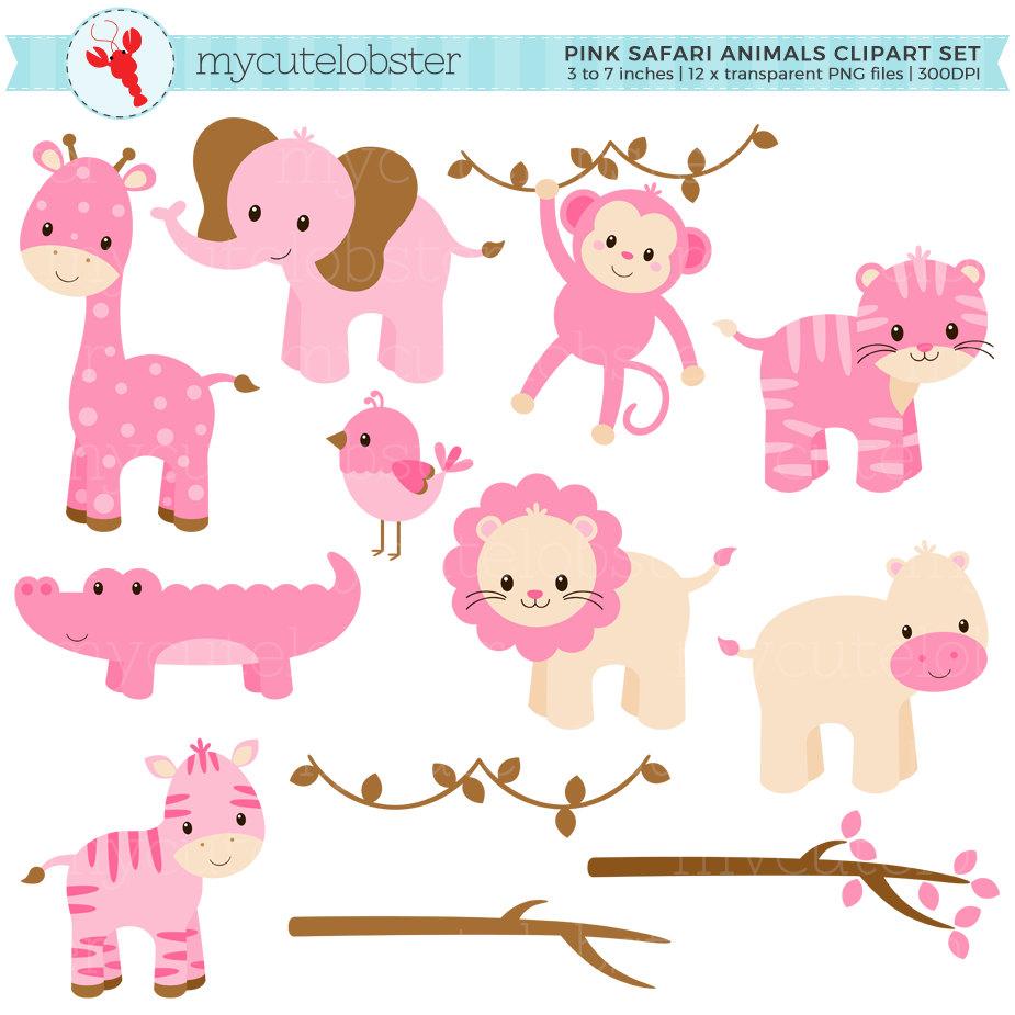 Pink clipart safari Lion crocodile Animals Safari Like