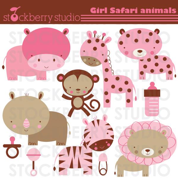 Safari clipart pink Shower Animals safari shower ideas