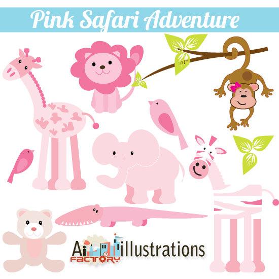 Safari clipart pink Adventure $5 Safari Pink Personal