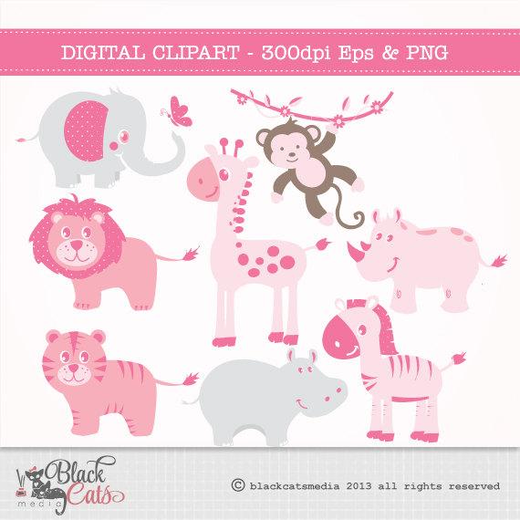 Safari clipart pink Pink Safari this Digital Jungle