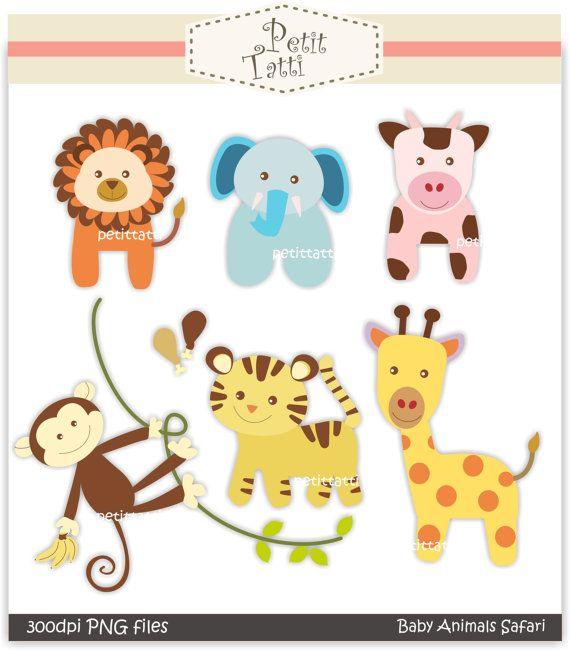 Animal clipart printable Pinterest art safari Digital clip