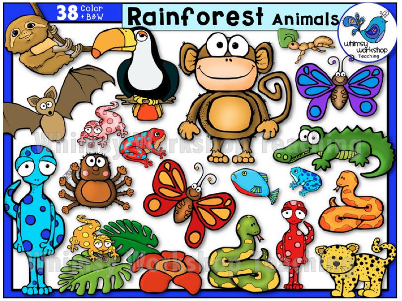 Forest clipart plants and animal Animals Art Clip Rainforest Rainforest