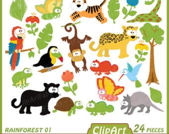 Cameleon clipart jackson Jungle digital Chameleon animals RAINFOREST