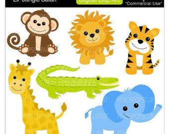 Safari clipart rainforest monkey Images clipart SALE gator digital
