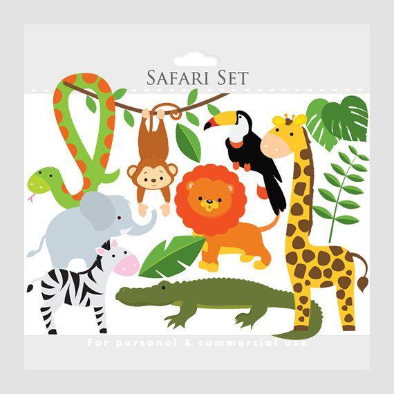 Safari clipart rainforest monkey Zebra safari zoo giraffe Safari
