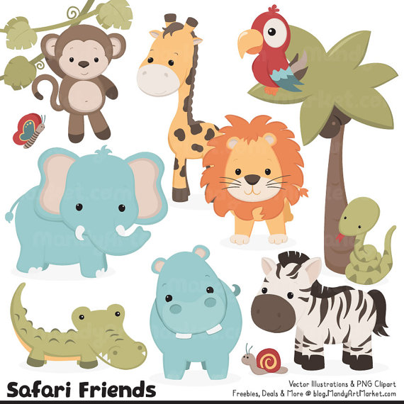 Safari clipart rainforest monkey Safari Clipart Jungle Safari Safari