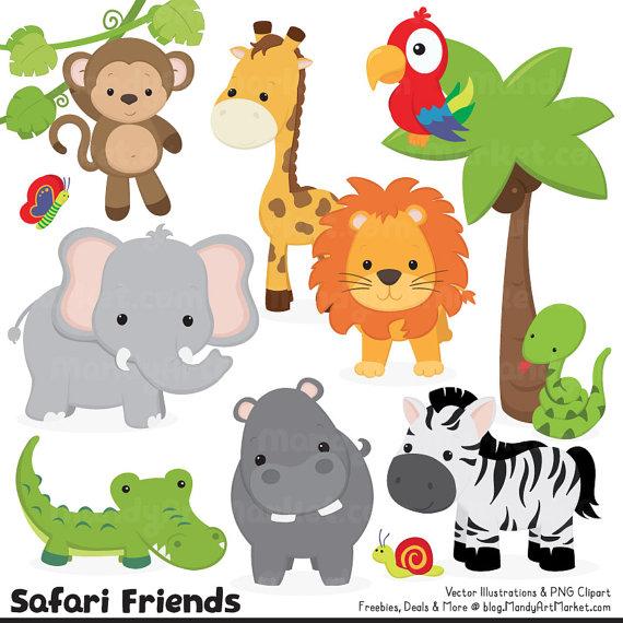 Safari clipart rainforest monkey On Jungle Animal Cute Animal