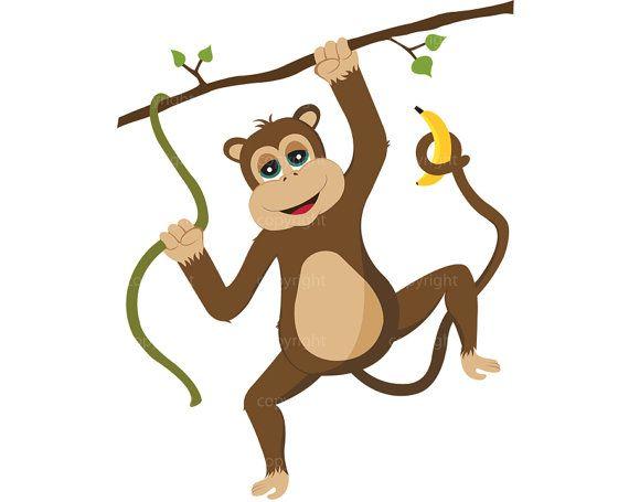 Safari clipart rainforest monkey Pinterest Art Illustration Art