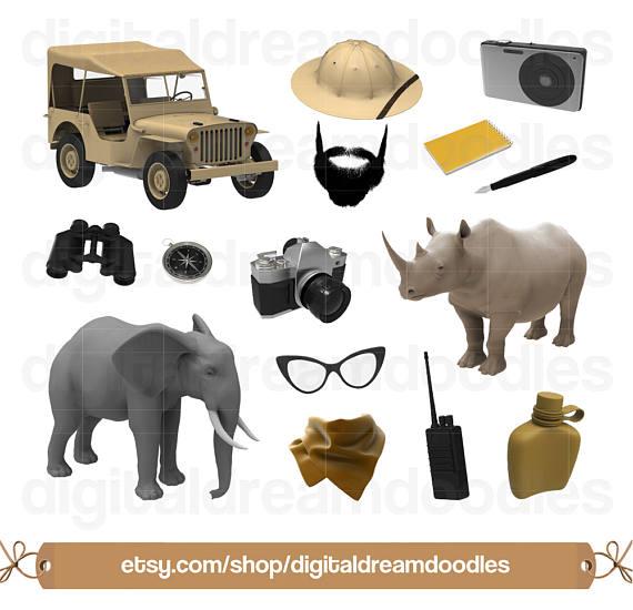 Safari clipart rhino Clip Clip Safari Image Clipart