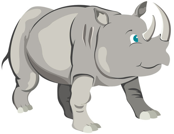 Safari clipart rhino Digital Art is Commercial file
