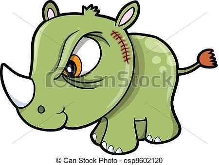 Safari clipart rhino Safari Rhino Tough Safari Vector