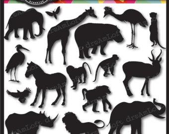 Wildlife clipart african wildlife Cameos clipart Animal Hippo Clip