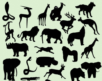 Wildlife clipart silhouette  DOWNLOAD Png Commercial Animal