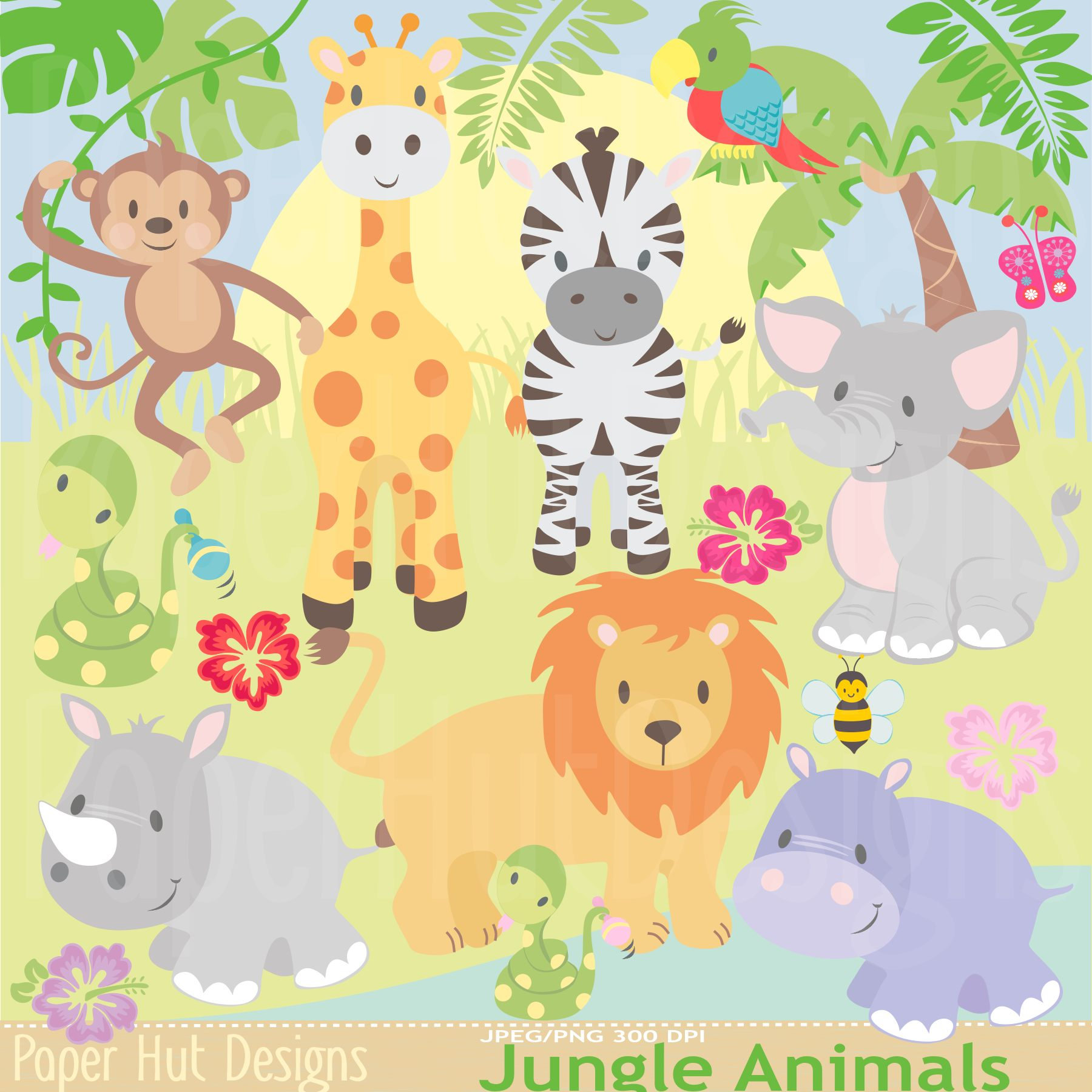 Animal Kingdom clipart fauna Animal art Safari Art Zoo