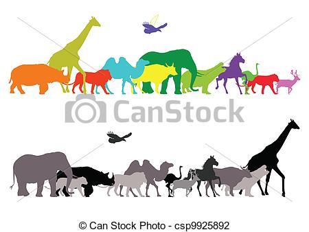 Safari clipart wildlife Silhouette  of silhouette safari