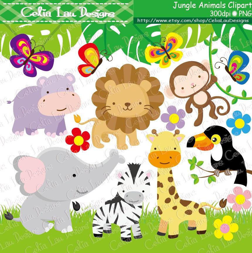 Safari clipart wildlife Animals INSTANT Baby ( Animals