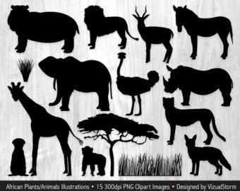 Safari clipart wildlife Clip Animal Jungle Safari Animal