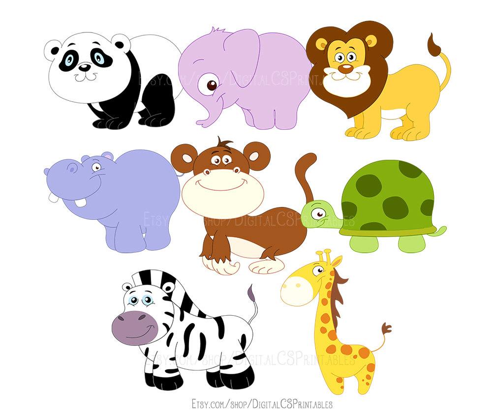 Safari clipart wildlife Animal clip Cute kids Animal