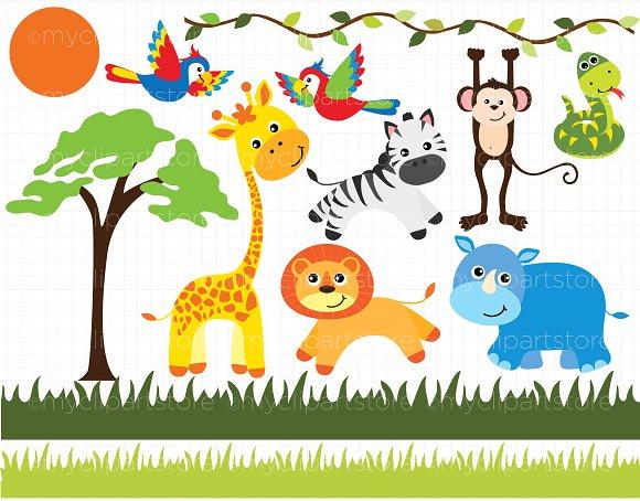 Safari clipart wildlife On Creative on Market ~
