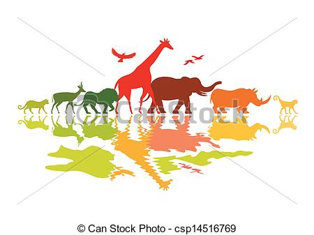 Safari clipart wildlife Wildlife Wild Safari animals of