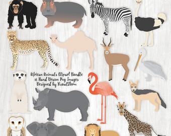 Safari clipart wildlife Etsy Clip Animal Animals Illustration