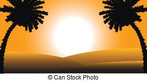 Sahara clipart  sunset Sahara desert Sahara