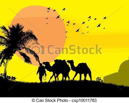 Sahara clipart Art in Sahara Vector Camels
