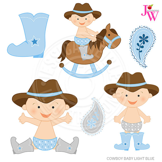 Cowboy clipart baby cowboy Blue baby Baby Baby Cute