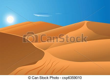 Sahara clipart desert sun #4
