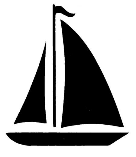 Sailing Ship clipart silhouette Sailboat art Clip simple drawings