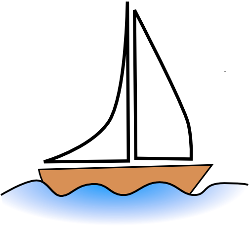 Sailboat clipart yatch To & Domain Public Sailboat