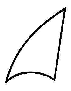 Sailboat clipart abstract #2