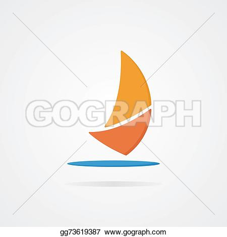 Sailboat clipart abstract #4