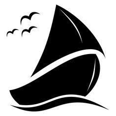 Sailboat clipart abstract #7