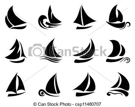 Sailboat clipart abstract #3