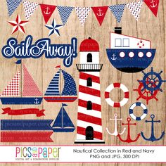 Sailing clipart themed Clip clipart penant Nautical and