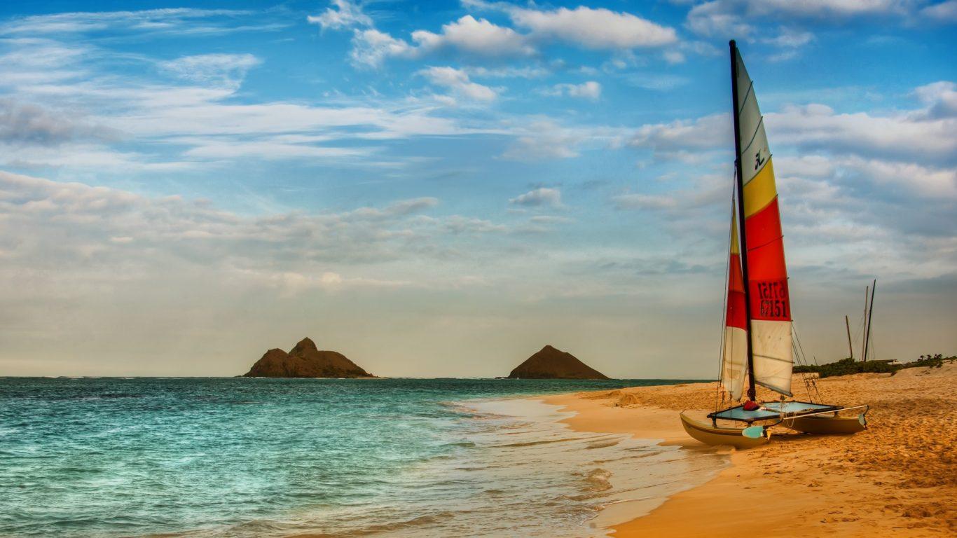 Sailboat clipart beach #9