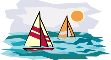 Sailboat clipart beach Beach water to on time