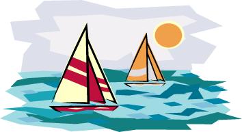 Sailboat clipart beach #1