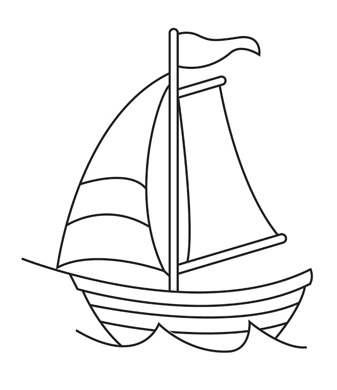 Sailing Boat clipart black and white Art and black Boat and