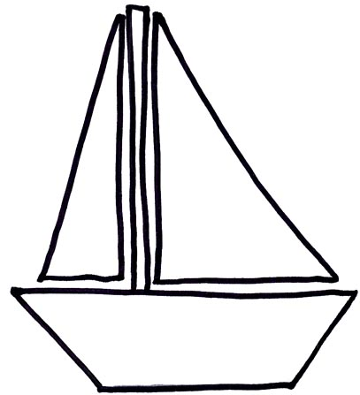 Sailing Boat clipart black and white And black black 2 and