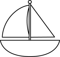 Sailing Boat clipart black and white  and God White Image