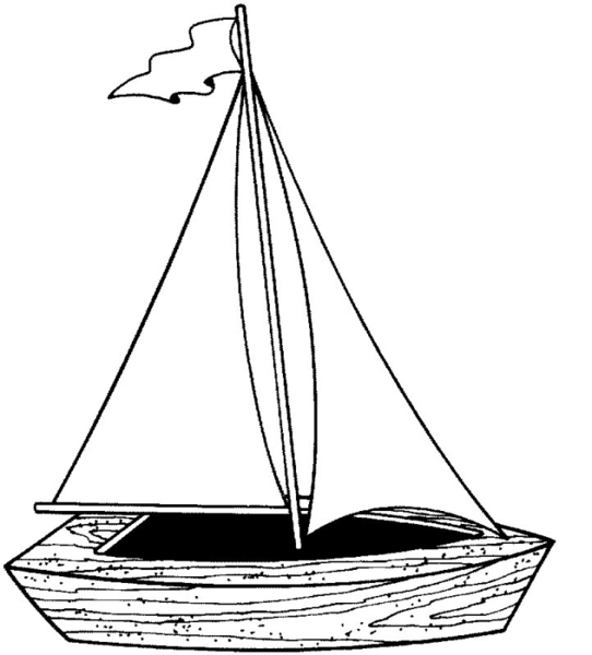 Black & White clipart fishing boat Clipart and White Free