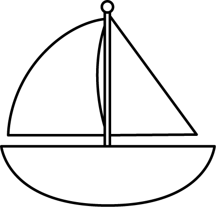 Sailing Boat clipart themed And White Sailboat Black Printables