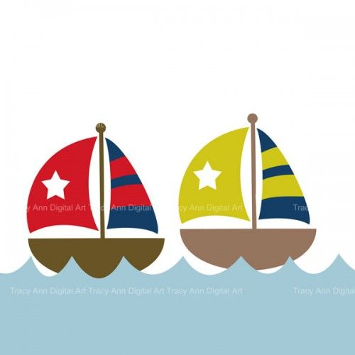 Sailboat clipart boating #9